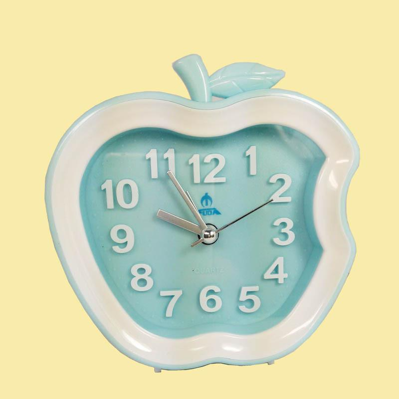 富达(fuda)苹果款小清新卡通静音闹钟 白色