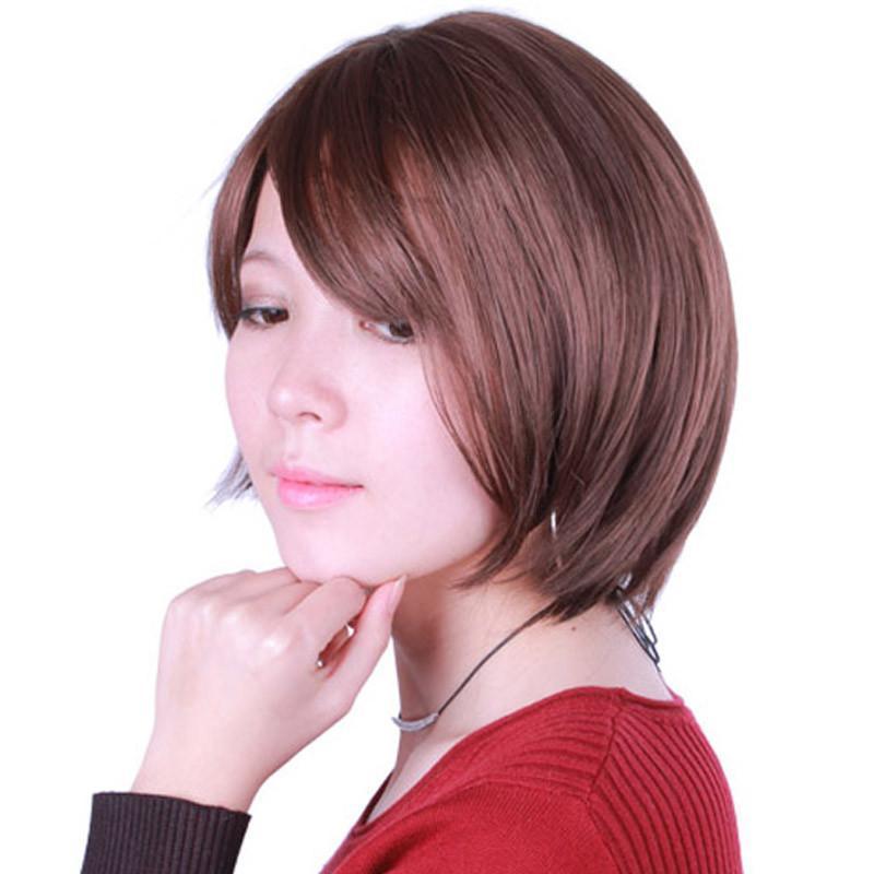 私元气 短发 直发 时尚女士假发 气质ol 短直发 日系图片
