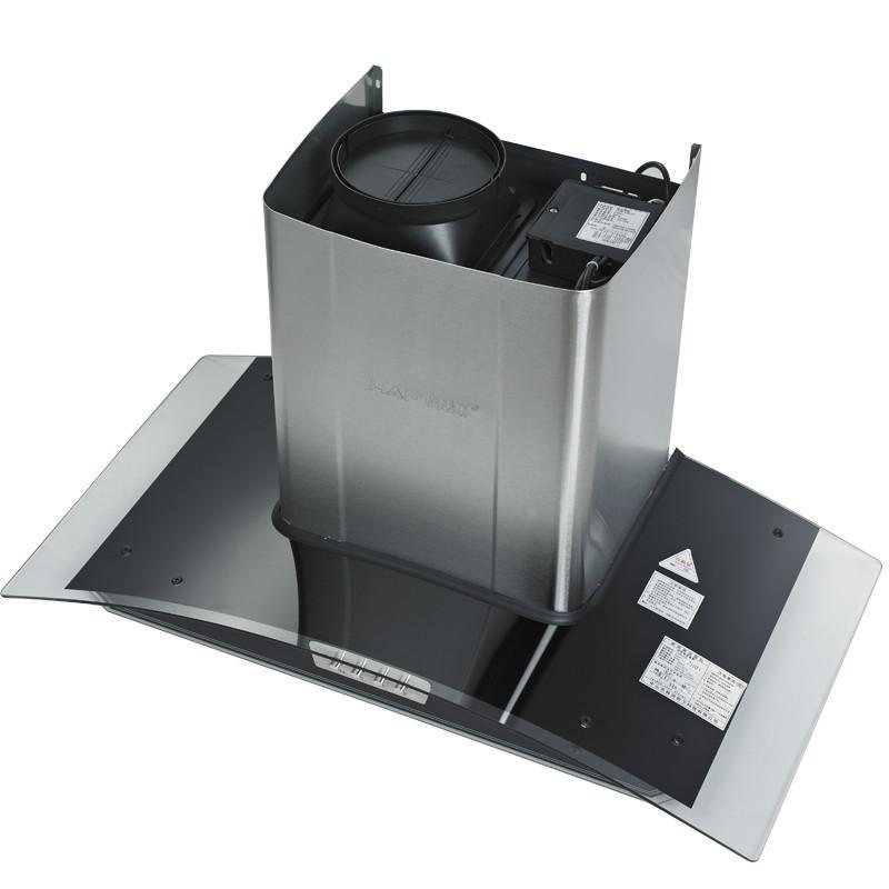 欧式抽油烟机 不锈钢玻璃弧形机