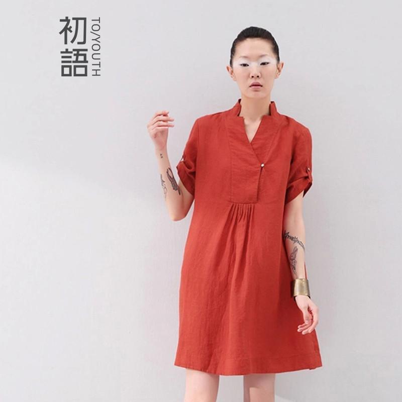 服装鞋帽 女装 裙装 初语2014夏季新款中式元素立领宽.