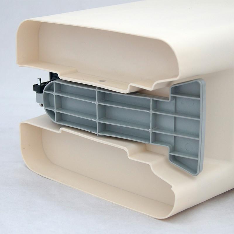 大号20l米白色脚踏式缓冲型双盖垃圾桶家用