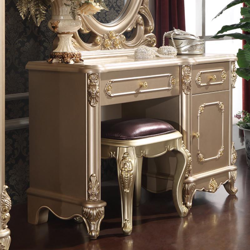 法丽莎家具y1欧式梳妆台实木带镜化妆台化妆桌储物柜