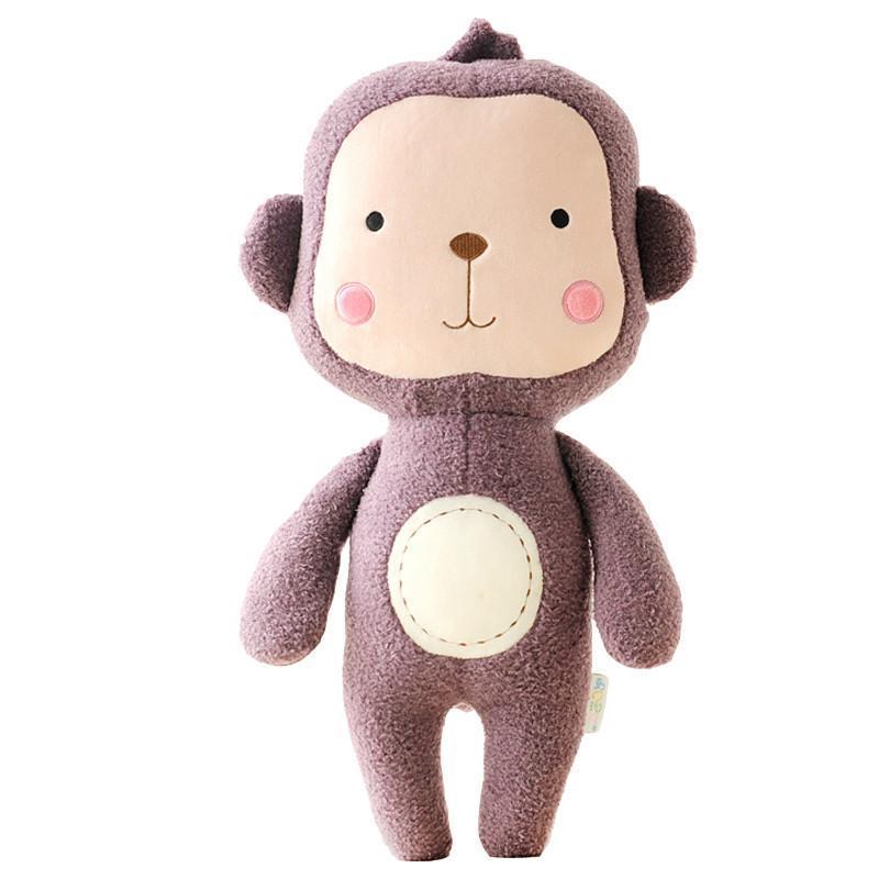 绒言绒语毛绒公仔森林动物系列可爱熊公仔圈圈毛质42