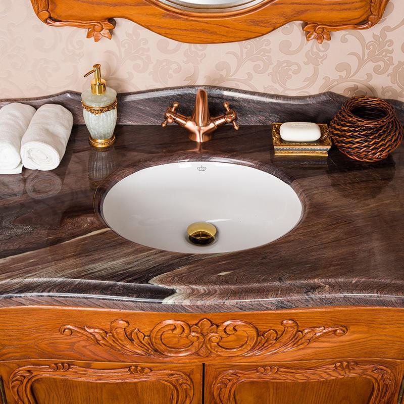 欧式仿古落地浴室柜