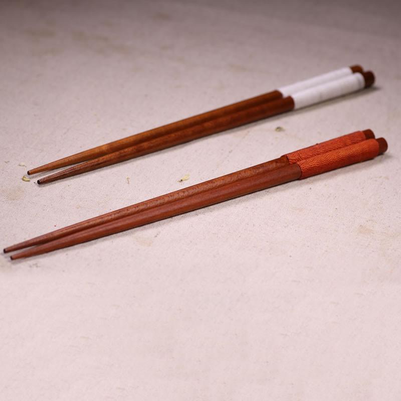原木筷子筷架套装 日式厨房白杨木筷子