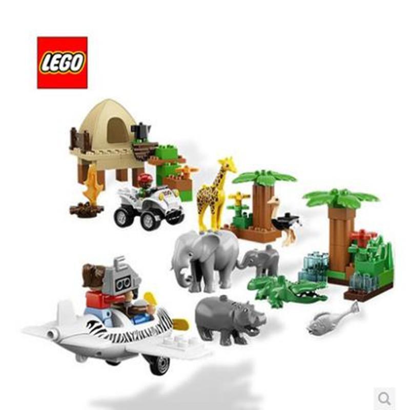 正品乐高lego拼装积木玩具得宝大颗粒 l6156动物园全家福 2-5岁