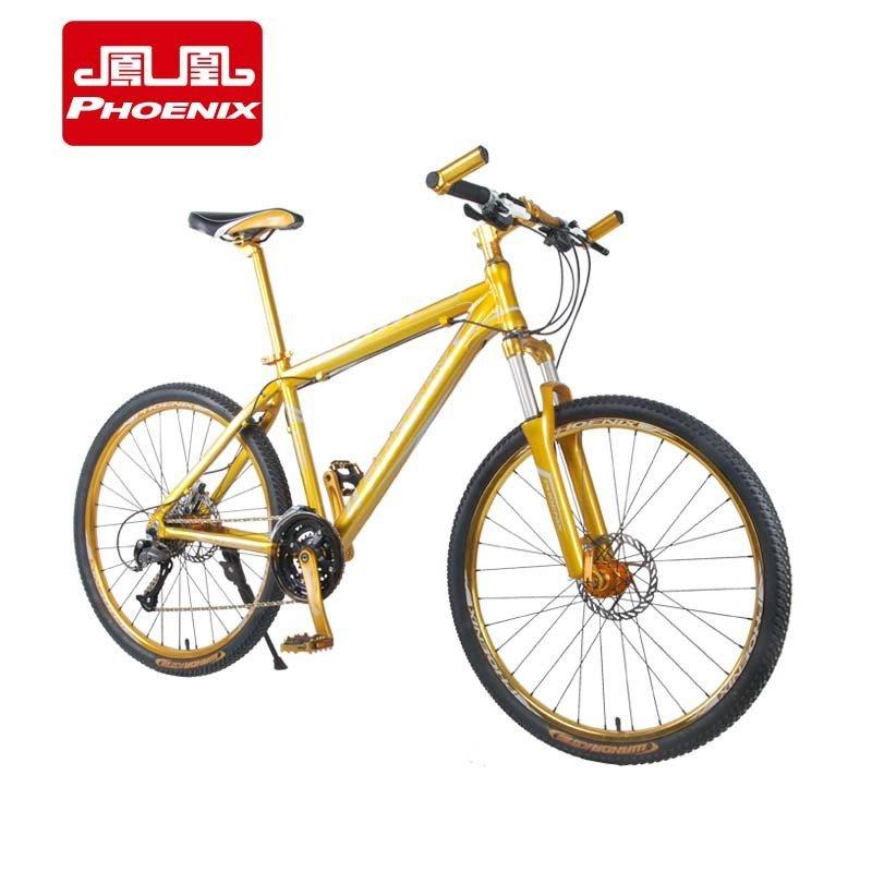 【凤凰自行车】凤凰山地车自行车27速油碟双碟刹禧器