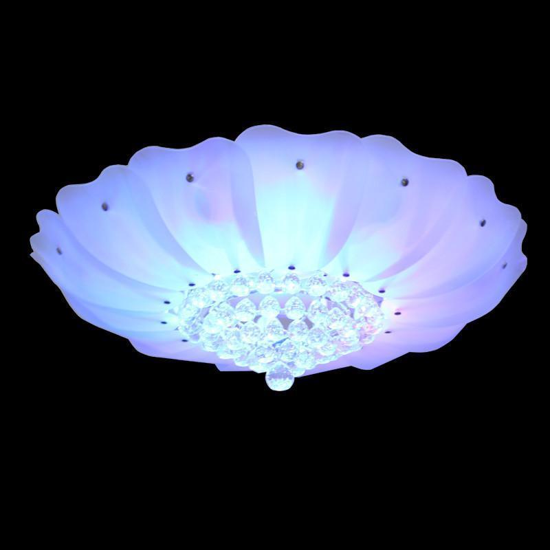 客厅灯现代简约水晶灯欧式玻璃