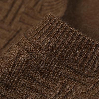 男士编织花纹提花针织毛衣