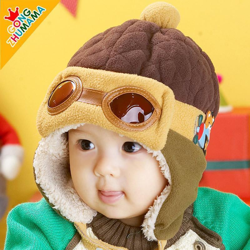 2014秋冬新款宝宝帽子护耳帽 婴幼儿雷锋帽子男女童韩版 红色 1-3岁