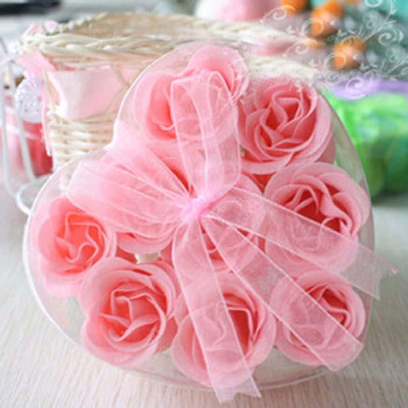 红兔子 浪漫心形玫瑰香皂花 花香皂 沐浴皂 浪漫玫瑰