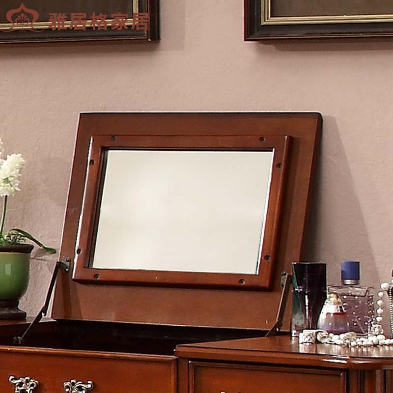 雅居格家具美式梳妆台翻盖带镜欧式实木化妆桌法式09