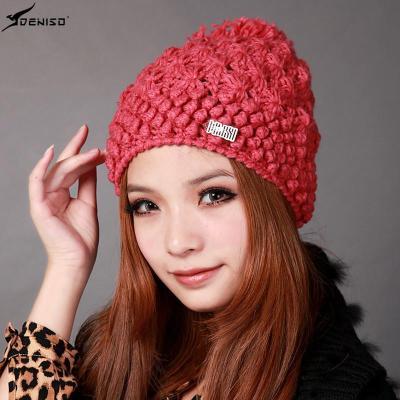 【DENISO】deniso帽子冬帽女款纯手工编织帽