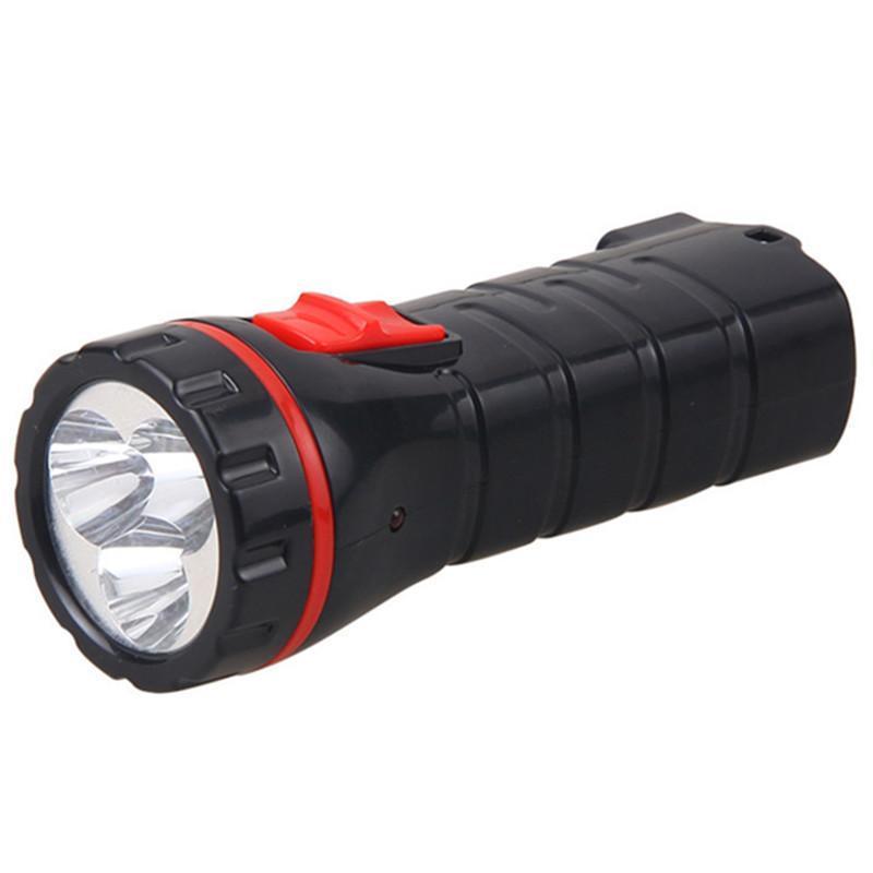雅格正品充电式led多功能袖珍便携手电筒长寿命耐用 黑色
