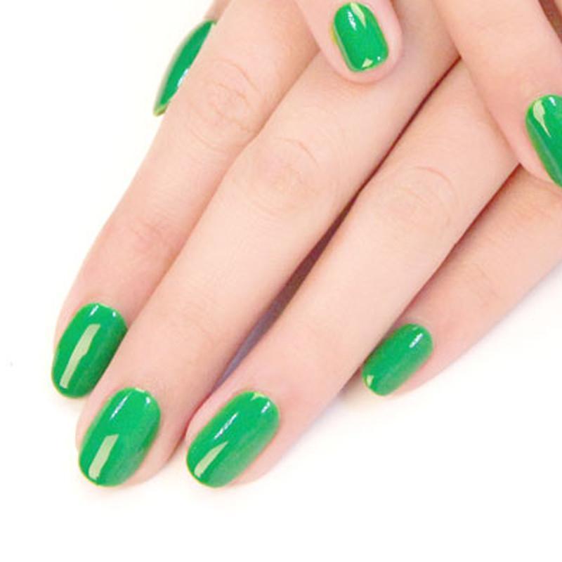 荷绿纯色指甲油