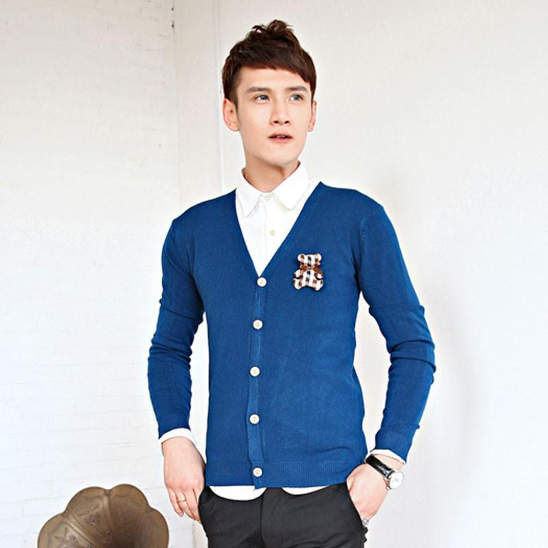 男装 2014新款男士秋冬季休闲长袖针织衫那款