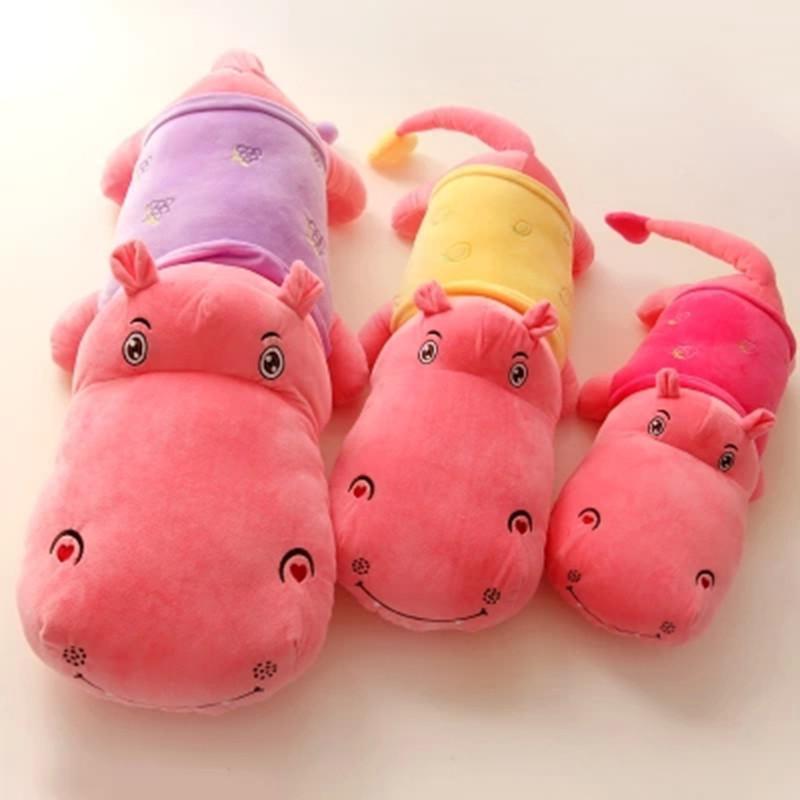 可爱水果大河马公仔 彩色河马毛绒玩具布娃娃大号抱枕