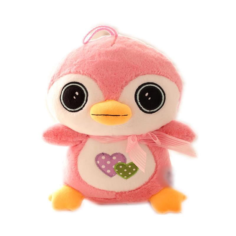 luckyted可爱卡通爱心呆萌小企鹅毛绒玩具公仔布娃娃