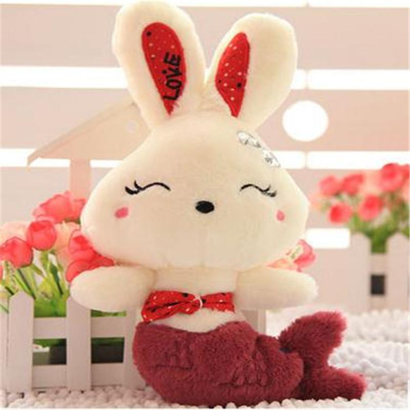 毛绒玩具美人鱼兔子公仔可爱布娃娃抱枕创意情人节送