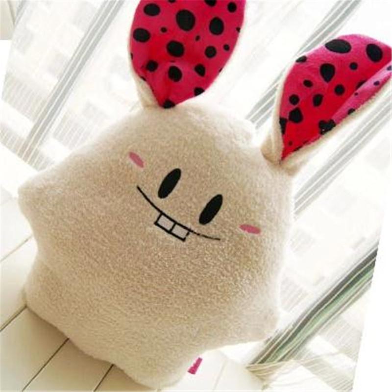 美嘉 可爱龅牙兔 淘喜兔 柔软舒棉绒饭团兔 毛绒公仔靠垫p 浅棕60厘米