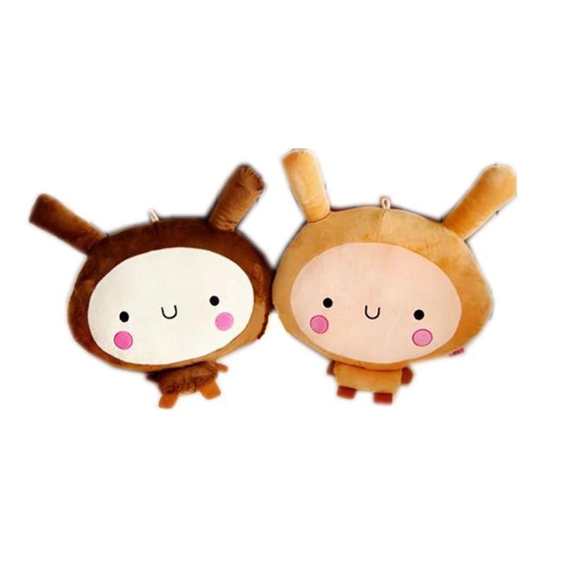 韩国可爱个性情侣兔子毛绒玩具公仔