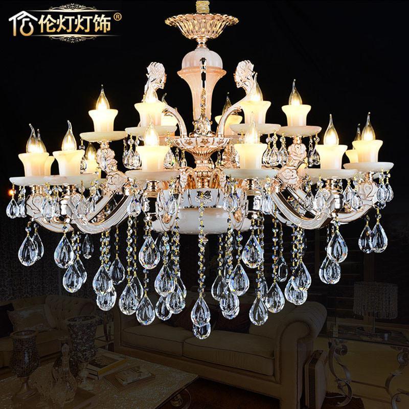 欧式水晶吊灯玉石