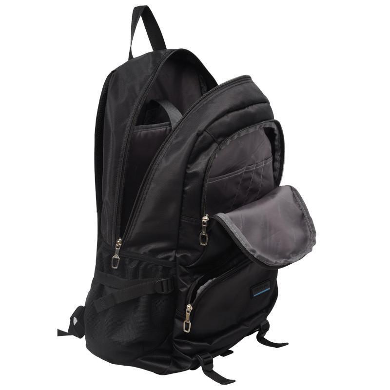 威豹双肩包男女休闲电脑时尚双背包 韩版潮 15寸 9533 黑色/大红b图片