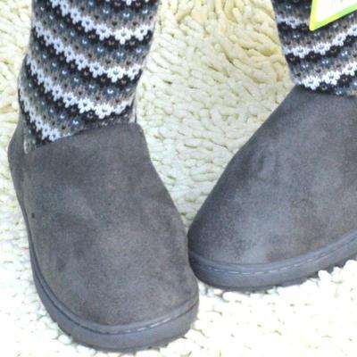 时尚中筒靴冬靴子 米黄