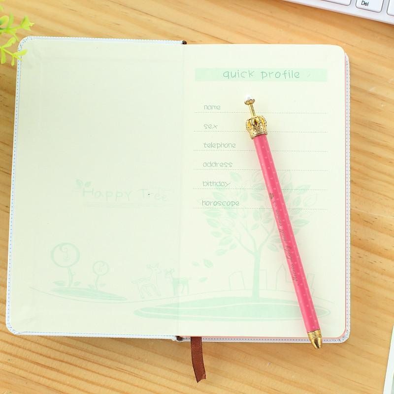 日韩小清新可爱学生款小鹿一家笔记本记事本