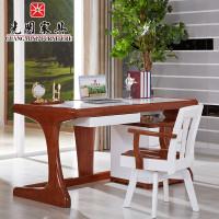 光明家具现代简约实木家具办公桌写字桌v家具吗保定好莲池书桌图片