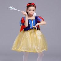 儿童服装花童公主裙女童元旦舞蹈纱裙化妆舞会
