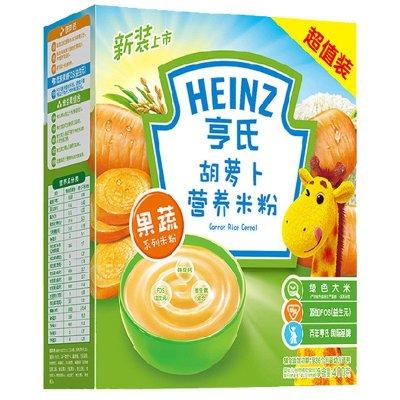 Heinz亨氏胡萝卜营养米粉400g