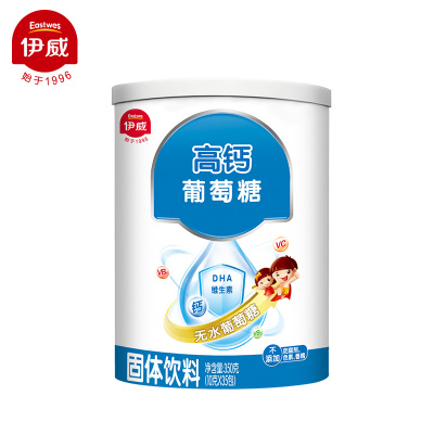 伊威(Eastwes)高钙葡萄糖350g*罐 无水葡萄糖(6个月以上适用)国产上海