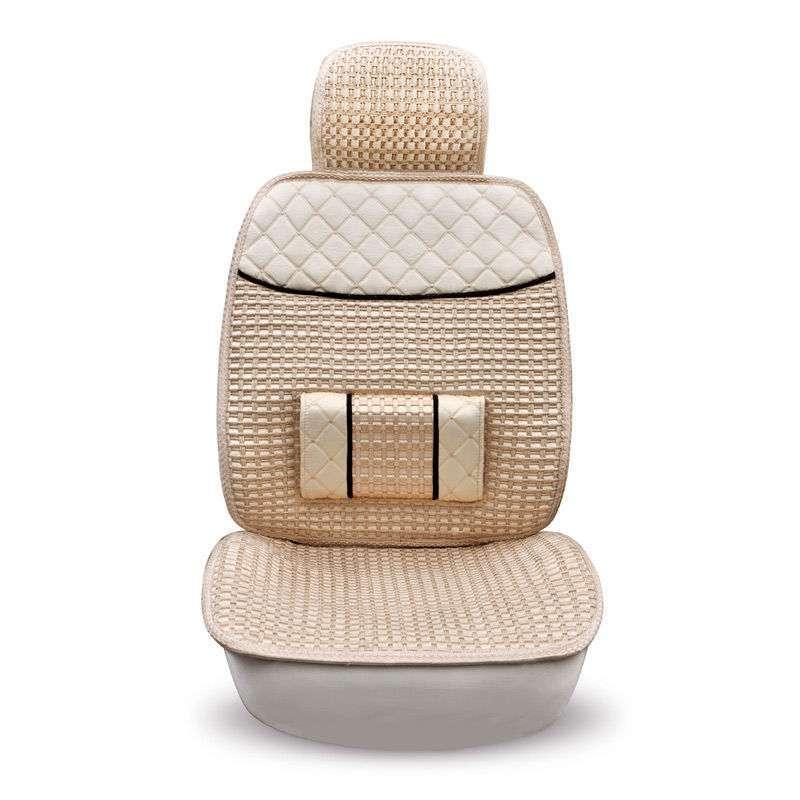 虎贝尔 汽车坐垫 座垫 冰丝坐垫 舒适款金黄米h119