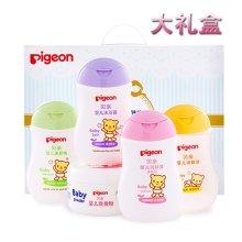 贝亲(Pigeon)婴儿清洁护肤用品5件套 IA119 宝宝沐浴洗护套装 洗护礼盒