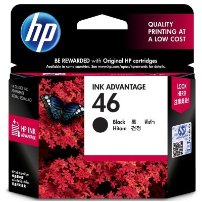 惠普(HP)46黑色墨盒CZ637AA