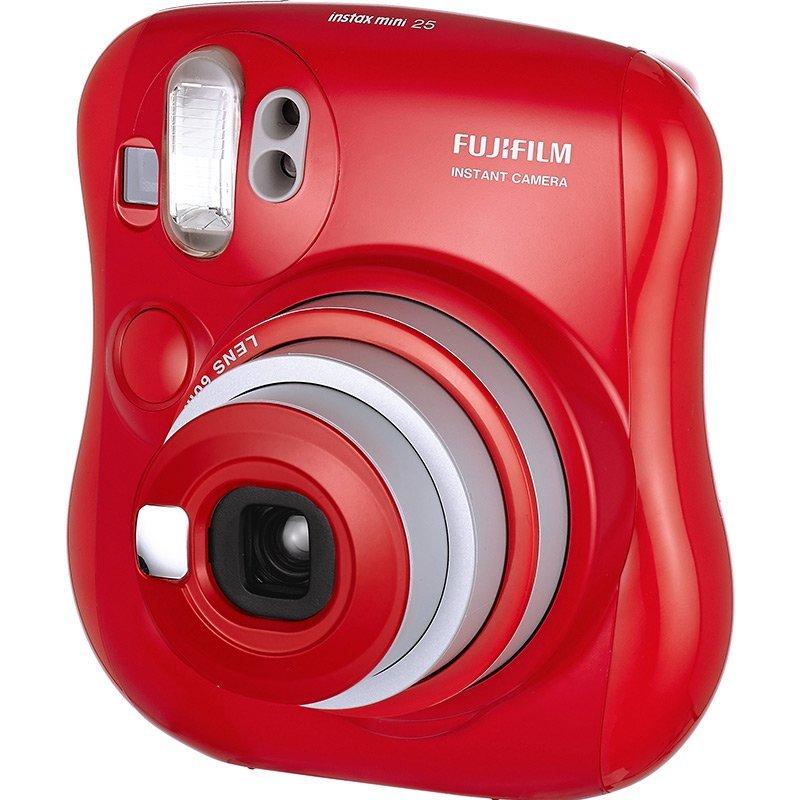 富士 一次成像拍立得 mini25 相机 (红色)
