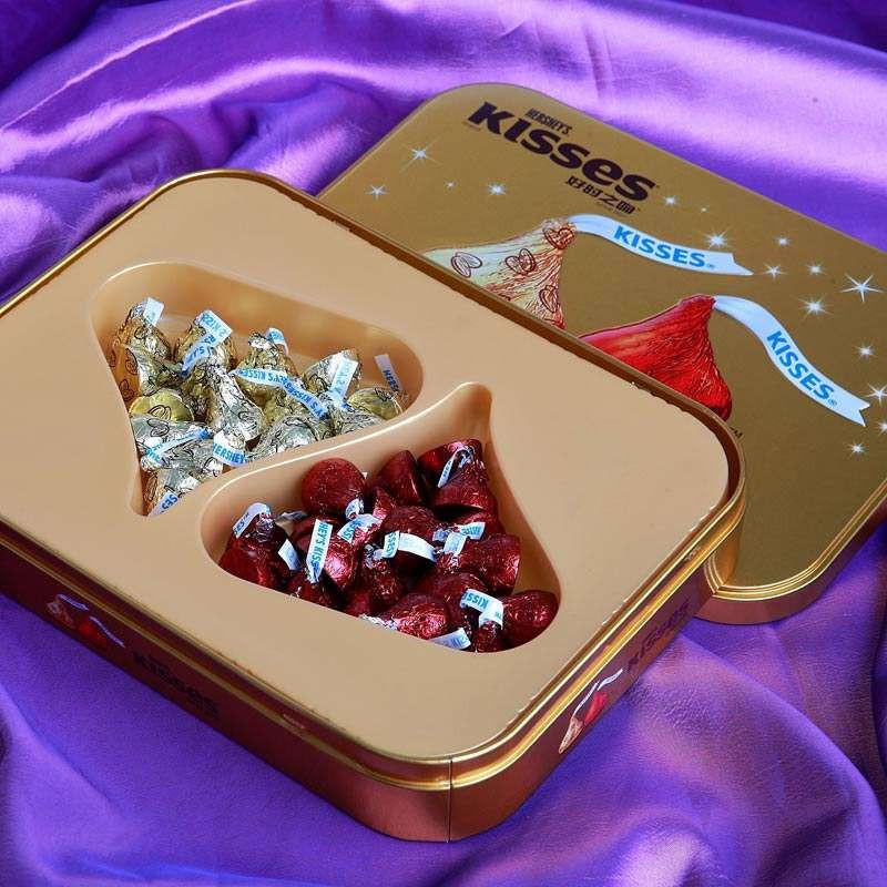 好时 KISSES好时之吻精选巧克力礼盒(黑巧克力+巴旦木牛奶巧克力)160g