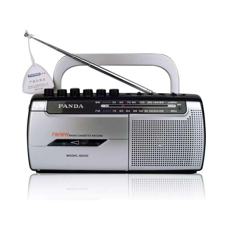 熊猫便携式收录机6500 二波段 磁带收音机