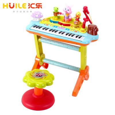 汇乐玩具(HUILE TOYS)多功能趣味演奏组合电子琴 669 宝宝益智玩具电子琴/带麦克风琴儿童电子钢琴 电源/电池