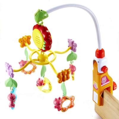 澳贝(AUBY) 益智玩具迪迪兔床铃音乐旋转塑料床铃摇铃床挂新生儿礼盒440×95×350 0-6个月 463201DS