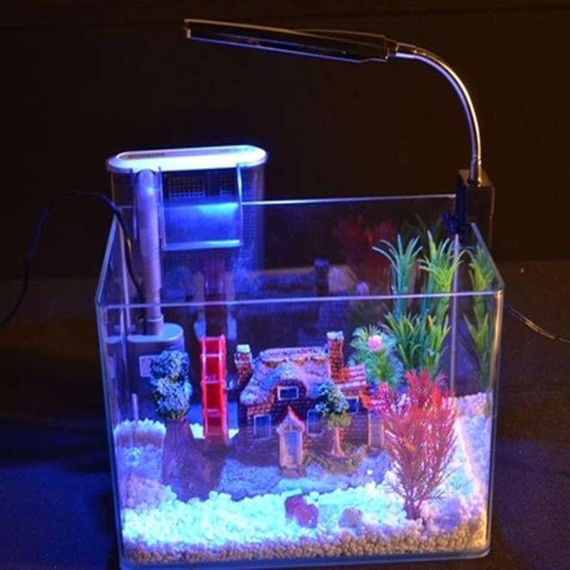 创意玻璃小鱼缸水族箱 桌面迷你鱼缸 生态小型乌龟缸