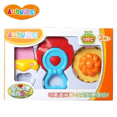 澳贝 AUBY 摇铃系列 放心煮摇铃3PCS 0-6个月 245*53*163 塑料玩具 463158DS