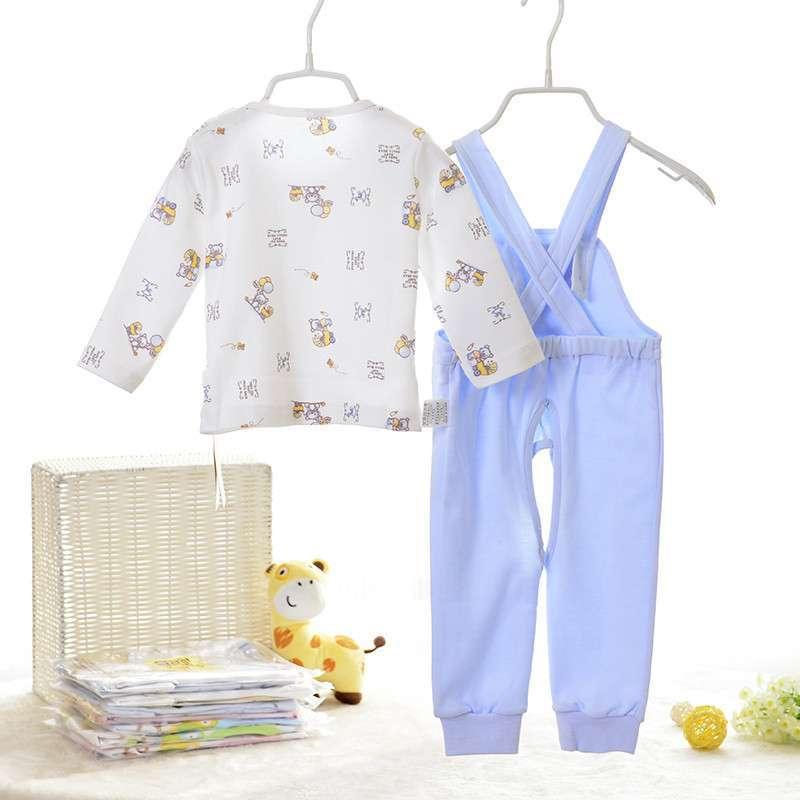 童泰 春季新款 婴幼儿舒适纯棉背带裤套装