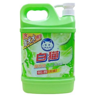 白猫淘米水青柠洗洁精1350g 瓶装洗洁精