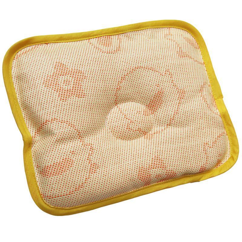 黄色小鸭 新生儿婴幼儿亚草枕席定型枕头 防偏头 夏款