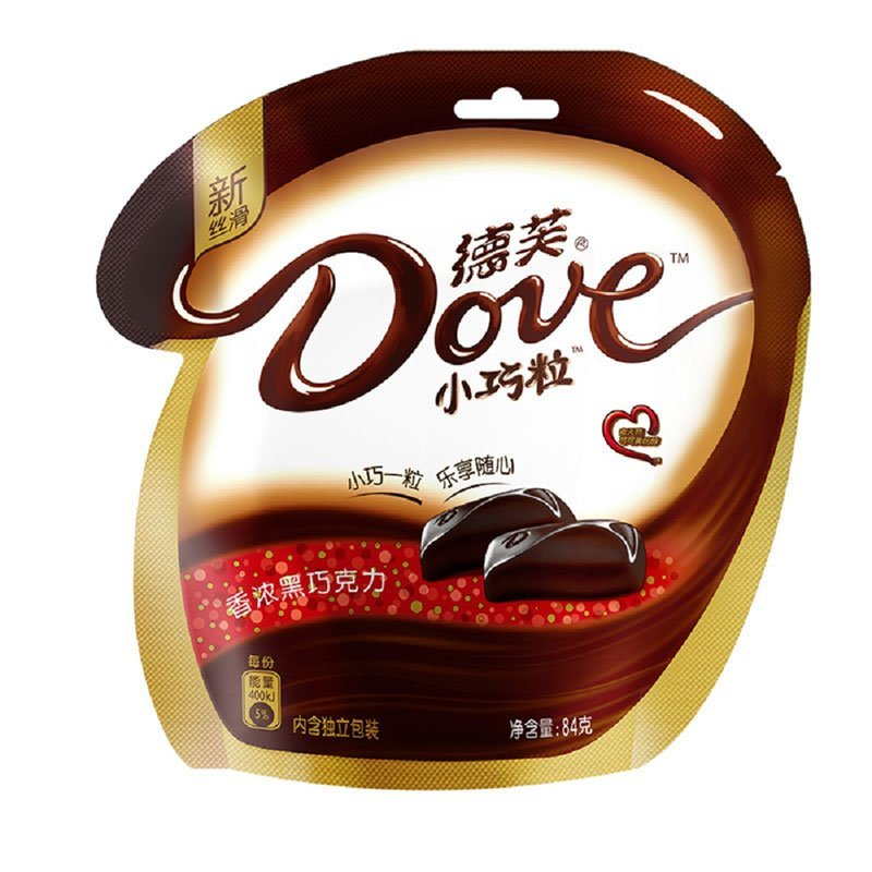德芙黑巧克力84g