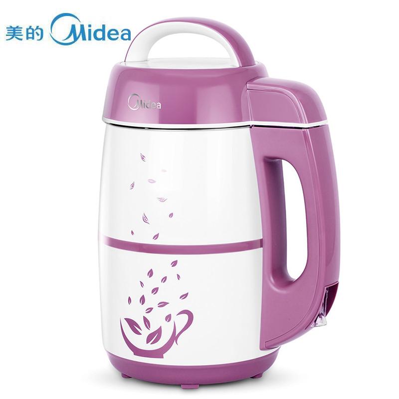 美的(Midea)WHC13Y21无网生磨 全钢 豆浆机 粉色