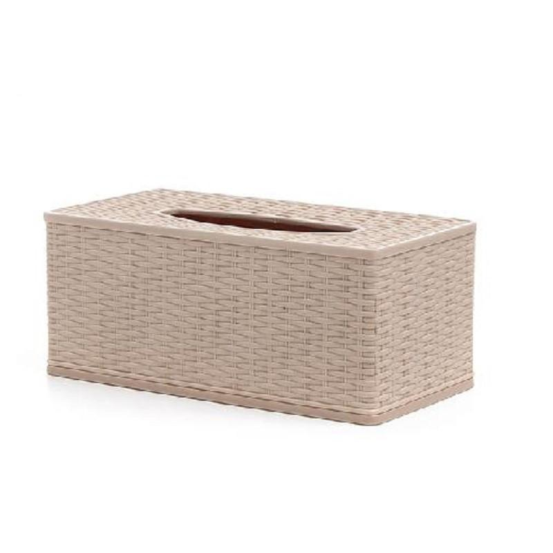 新陵 方形纸巾盒 长方抽纸盒手纸筒 创意家居耐摔 r2121