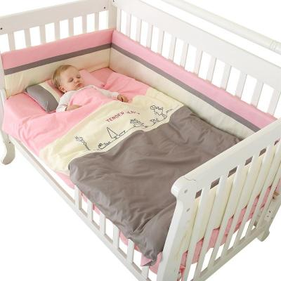 【蘇寧自營】龍之涵嬰兒床上用品全棉大套件 寶寶嬰兒床床品床圍60*105